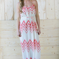Darling Chevron Maxi Dress