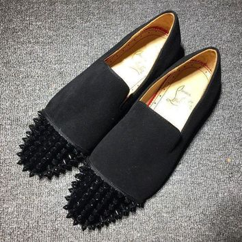 DCCK2 Cl Christian Louboutin Loafer Style #2336 Sneakers Fashion Shoes