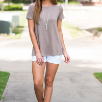 Live To Be Sassy Top, Taupe