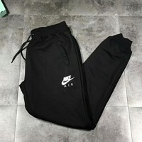 NIKE Woman Men Fashion Embroidery Pants Trousers Sweatpants