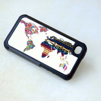 Geometric Phone Case, Cover,  iPhone, Samsung Galaxy, World Map