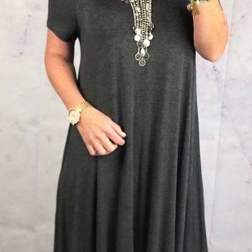 To a Tee Tunic: Charcoal