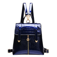 Mara's Dream Alligator Patent Leather Backpacks Women Aa3057