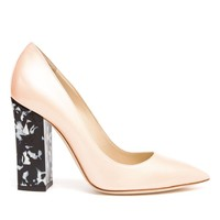 POLLINI   Patent Leather Pumps with Marbled Heel   Browns fashion & designer clothes & clothing
