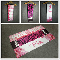 PINK Vitoria Europe leopard sexy personality pink Yoga special absorbent towel cloth