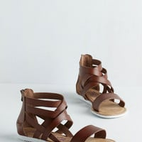 ModCloth Boho Canoe Feel the Love? Sandal in Brown