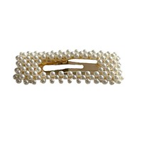 Rectangle Snap Hair Clip (Cut Out Pearl)
