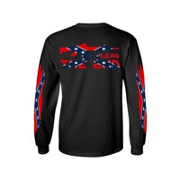 Men's Confederate Rebel Flag Long Sleeve Shirt I Plead The 2nd