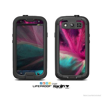 The Neon Pink & Green Leaf Skin For The Samsung Galaxy S3 LifeProof Case