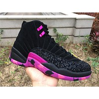 Air Jordan retro 12 Doernbecher Men Basketball Shoes High quality 12s XII DB Carissa Black Violet Purple Athletics Sports Sneakers With Box