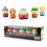 Anime South Park Stan Kyle Eric Kenny Leopard Mini 6cm PVC Action Figure Collectible Model Toy Kids Gifts