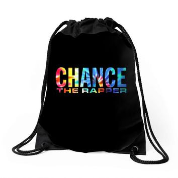 chance the rapper Drawstring Bags