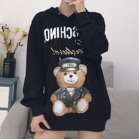 Moschino Women Fashion Print Top Sweater Pullover
