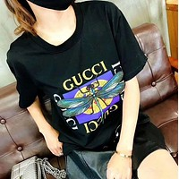 Gucci Hot letters print T-shirt top-17