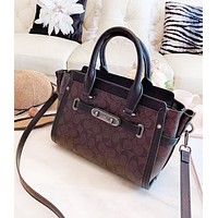 Coach New fashion pattern print leather high quality shoulder bag handbag women