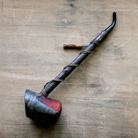 Hey There Sherlock - Vintage Wooden Pipe With Tassel - Made in France - Men - Rustic - Collectible - Home Decor - For Him - Brown
