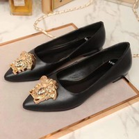Versace Women Fashion Casual Pointed Toe High Heels Shoes-4