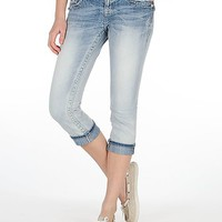 Miss Me Cuffed Stretch Cropped Jean