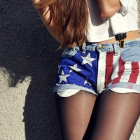American Flag Shorts by JuliLand on Etsy