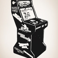 Vinyl Wall Decal Sticker 80's Arcade Video Game #OS_AA441