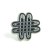 SAFETY PIN ENAMEL PIN