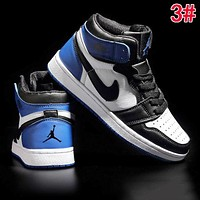 Alwayn Nike AIR JORDAN 1 Fashionable Women Men High Top Sport Running Shoes Sneakers 3#