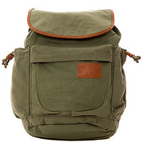 The Day Dream Canvas Rucksack in Olive