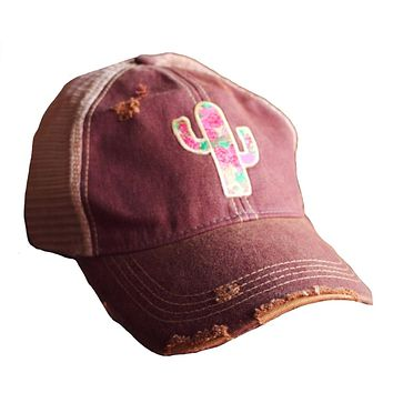 Cactus Rose Cap by Original Cowgirl Clothing Company