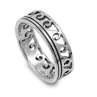 925 Sterling Silver Maori Ocean Wave Ring