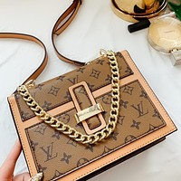 Louis Vuitton LV Classic printed letters colorblock ladies chain crossbody bag shoulder bag