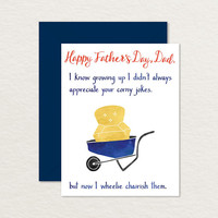 Funny Father's Day Card / Printable Father's Day Card / I Wheelie Chairish Your Jokes / Father's Day Pun Card / Card for Dad