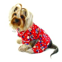 Winter Teddy Bear Flannel Dog Pajamas