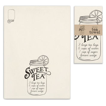 Sweet Tea Recipe Tea Towels - Set of 4
