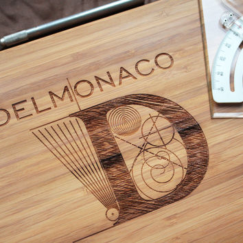 Monogram Bamboo Wood Cutting Boards - Personalized Cutting Board