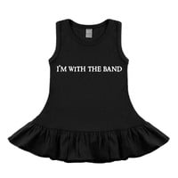 I'm With The Band Black Sleeveless Dress