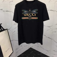 NEW 100% Authentic gucci 2018ss dragonfly t shirt ※001