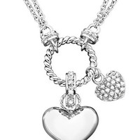 Victoria Townsend Diamond Heart Pendant Necklace in Sterling Silver (1/4 ct. t.w.)