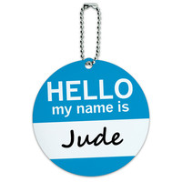Jude Hello My Name Is Round ID Card Luggage Tag