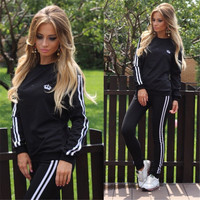 Women Fitness Yoga Set jacket & pants Sport Set Gym Clothes Sport wear Training Suit Running Outdoor
