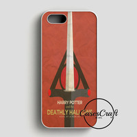 A Sophisticated Harry Potter And The Deathly Hallows Poster iPhone SE Case   casescraft