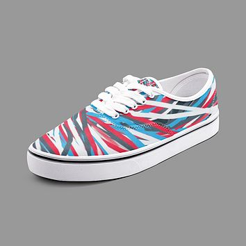 Colorful Thin Lines Art Unisex Canvas Shoes Fashion Low Cut Loafer Sneakers by The Photo Access