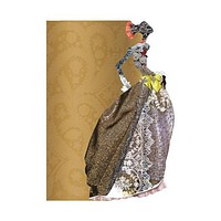 Gold Madon Die-Cut Embossed Notebook by Christian Lacroix