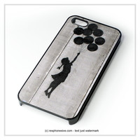 Banksy Balloon Girl iPhone 4 4S 5 5S 5C 6 6 Plus , iPod 4 5 , Samsung Galaxy S3 S4 S5 Note 3 Note 4 , HTC One X M7 M8 Case