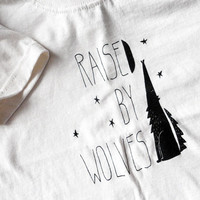 Raised by Wolves natural t-shirt