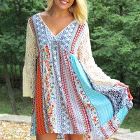 Wildflower Dress - Orange/Mint