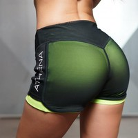 Sexy Yoga Shorts Mesh Breathable Compression Running Short Seamless Gym Sport Shorts For Workout Athletic Fitness Leggings