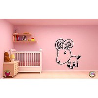 Wall Sticker For Kids Baby Goat  Cool Decor for Nursery Room Unique Gift z1400