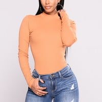 Rhea Long Sleeve Tee - Mustard