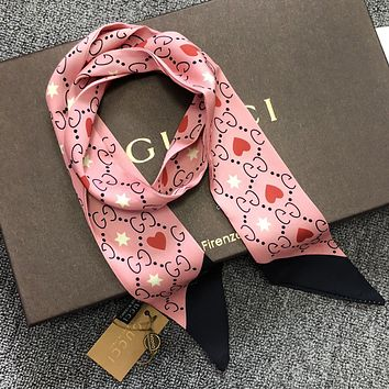 GUCCI Fashionable  Multi-Function Scarf Silk Scarves