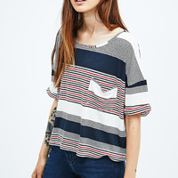 BDG Slouchy Jacquard Tee in Stripe - Urban Outfitters